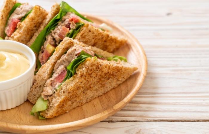 Sandwich with tuna pate Protein