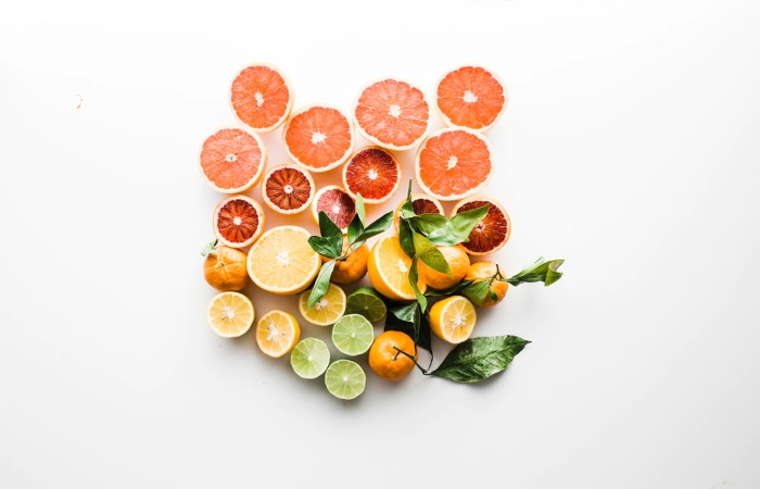 Foods rich in vitamin C such as citrus